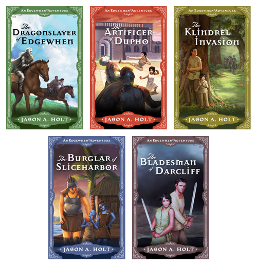 set of 5 Edgewhen fantasy adventure novel cover illustrations