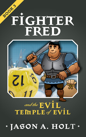 Cover for Fighter Fred and the Evil Temple of Evil